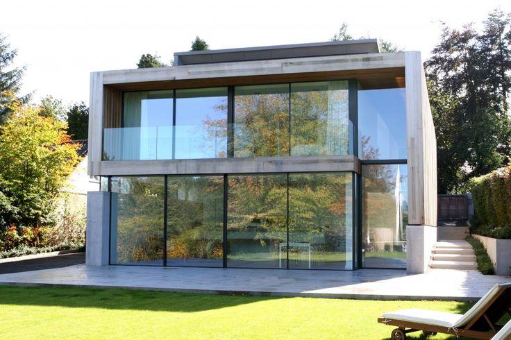 Edge Hill Slim frame sliding glass door as a facade