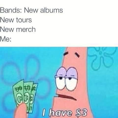 This is actually me because P!ATD are coming to my country soon and I can't get tickets ;-;
