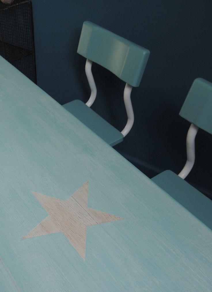 Plateau de dinde Vintage bleu et blanc