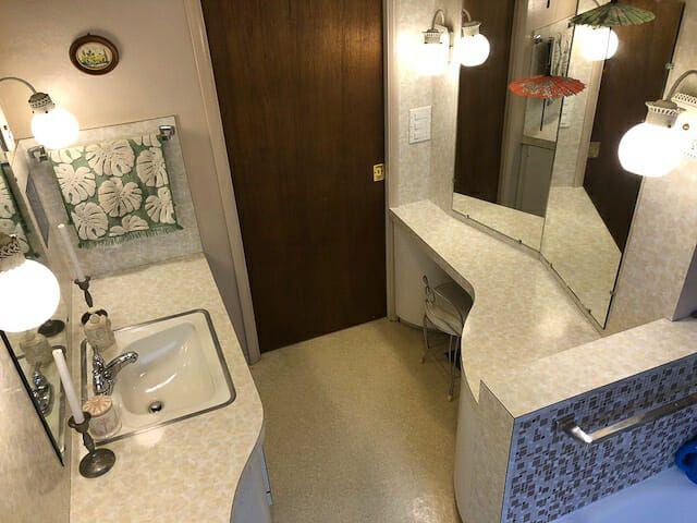Pattern on pattern on pattern: Laura's fabulous 1957 bathroom - Retro Renovation
