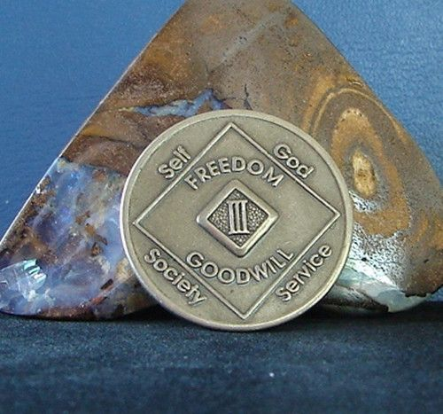 Narcotics Anonymous Vintage Bronze NA Medallion 3 Year Chip Coin 1991 WSO Set | eBay
