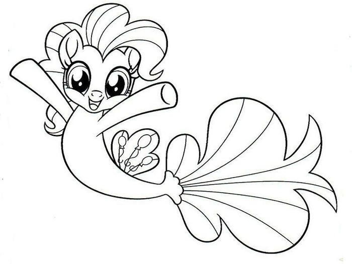 My Little Pony Mermaid Coloring Pages Mermaid Coloring Pages