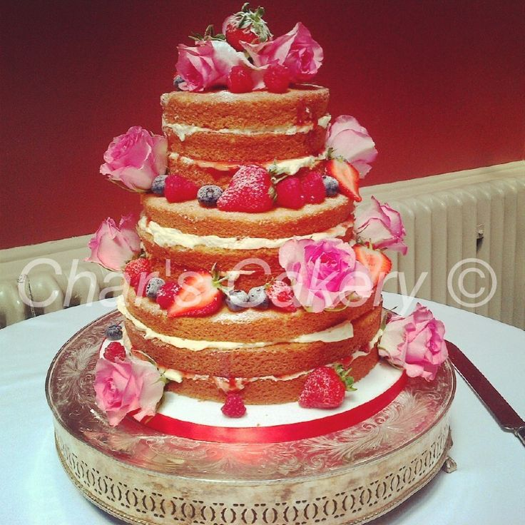 3 Tiered Victoria Sponge Wedding Cake