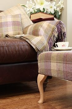 a cozy corner - a cup of tea - and a good movie! Use the same fabric pattern to upholster a chair and make a throw