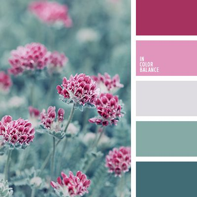 I ❤ cool colors . . . The color palette №2137~ Cheerful rainbow palette rich in bright colors. Raspberry color baby pink, accompanied by a gray-green shades create a rich and significant scale. White balance and harmonize. Such paints are suitable for bright accents in the interior: for example, large vases with artificial flowers. Proper color design of products for children, such as strollers & toys.