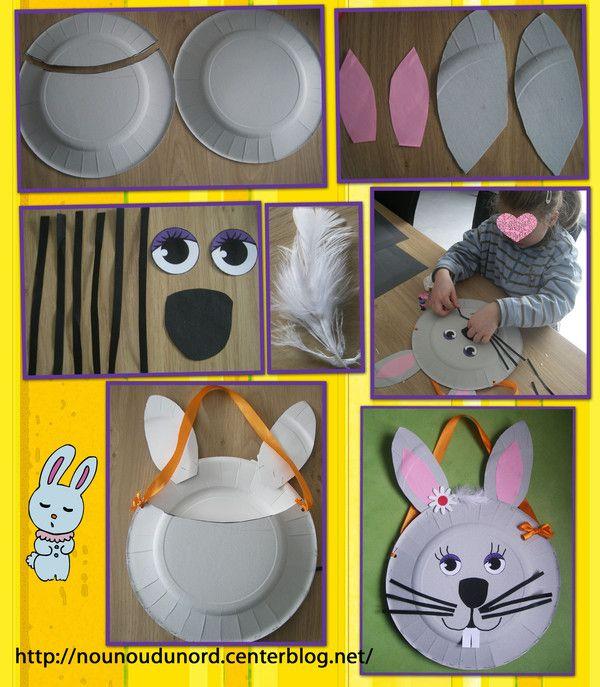 le panier de pâques en forme de tête de lapine paniers de pâques ...