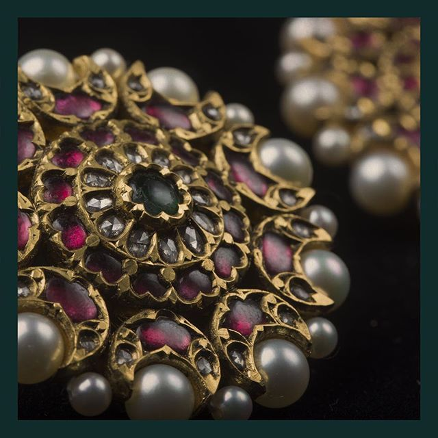 Heritage studs in uncut diamonds, emeralds, rubies and pearls. #Sabyasachi #ThePakeezahCollection #SabyasachiJewelry #TheWorldOfSabyasachi For all jewellery related queries, kindly contact sabyasachijewelry@sabyasachi.com