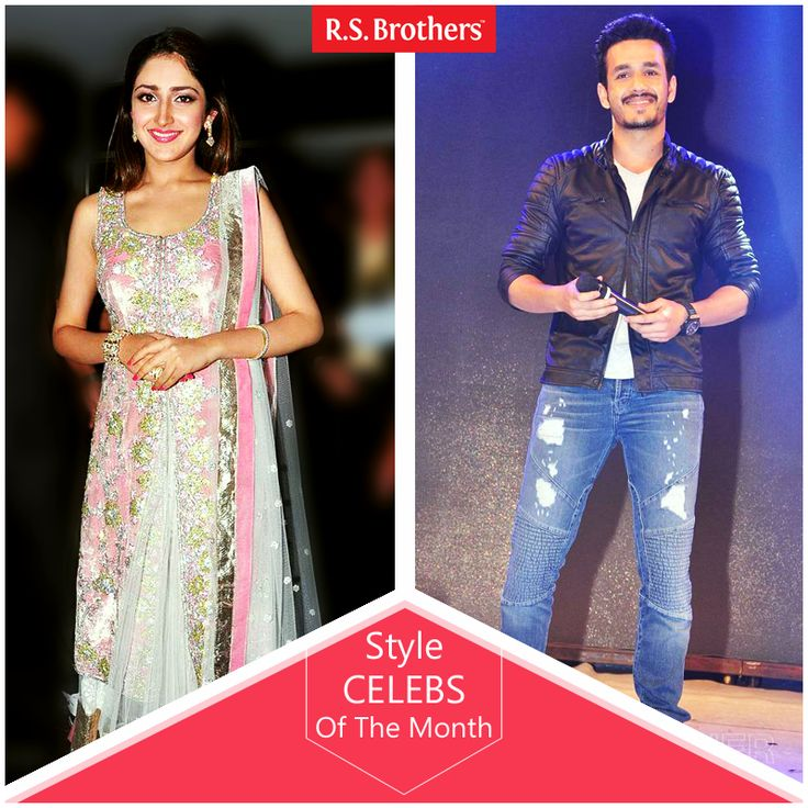 """#StyleCelebsOfTheMonth Hey Folks, this week Tollywood celebritie's #AkkineniAkhil and  #SayeshaSaigal are dazzled in Trendy Fashions Look for """"Akhil"""" Movie Audio Launch. (Image copyrights belong to their respective owners)"""