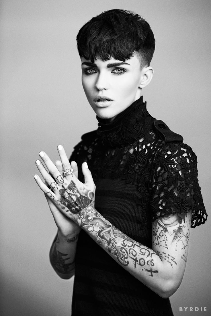 OITNB's Ruby Rose Flaunts Her Tattoos in Byrdie Shoot, Talks Hair - Fashion Gone Rogue