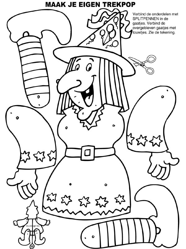 FREE WITCH PRINTABLE TO COLOR AND HANG UP #Halloween #printables