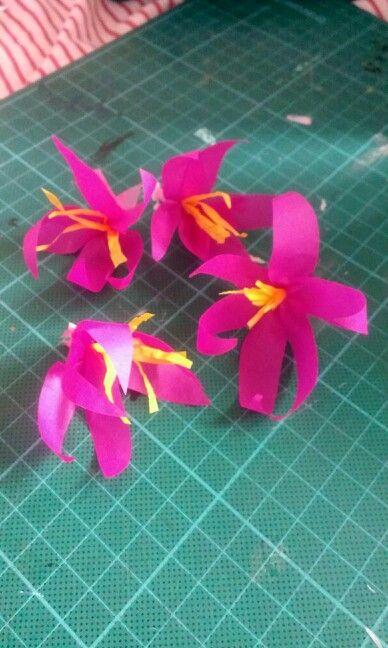 Tissuepaper flowers