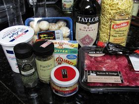 Beef Stroganoff and Spaetzle:   Used this recipe with success and some alteration such as I had ground bison that was very lean.  As such, I had to add more butter than recipe indicates. Beef bullion made from bullion cube.  To reduce cooking time, I only used 1.5 cups of water added to the bullion cube. Also, added some finely chopped celery to the pan, as I cooked.  If you have Aldi's grocery store - source for the noodles.
