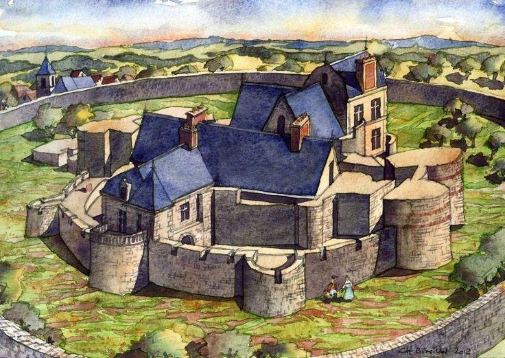 Château de Beynes, Simon IV de Monfort, Robert d'Estouteville chambellan du roi, Diane de Poitiers, vers 1560. Architecte: ..., Philibert de l'Orme. Démoli en 1730.
