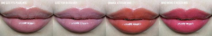 Maybelline Color Whisper One Size Fits Pearl Lust for blush Orange Attitude Who Whore it Reder