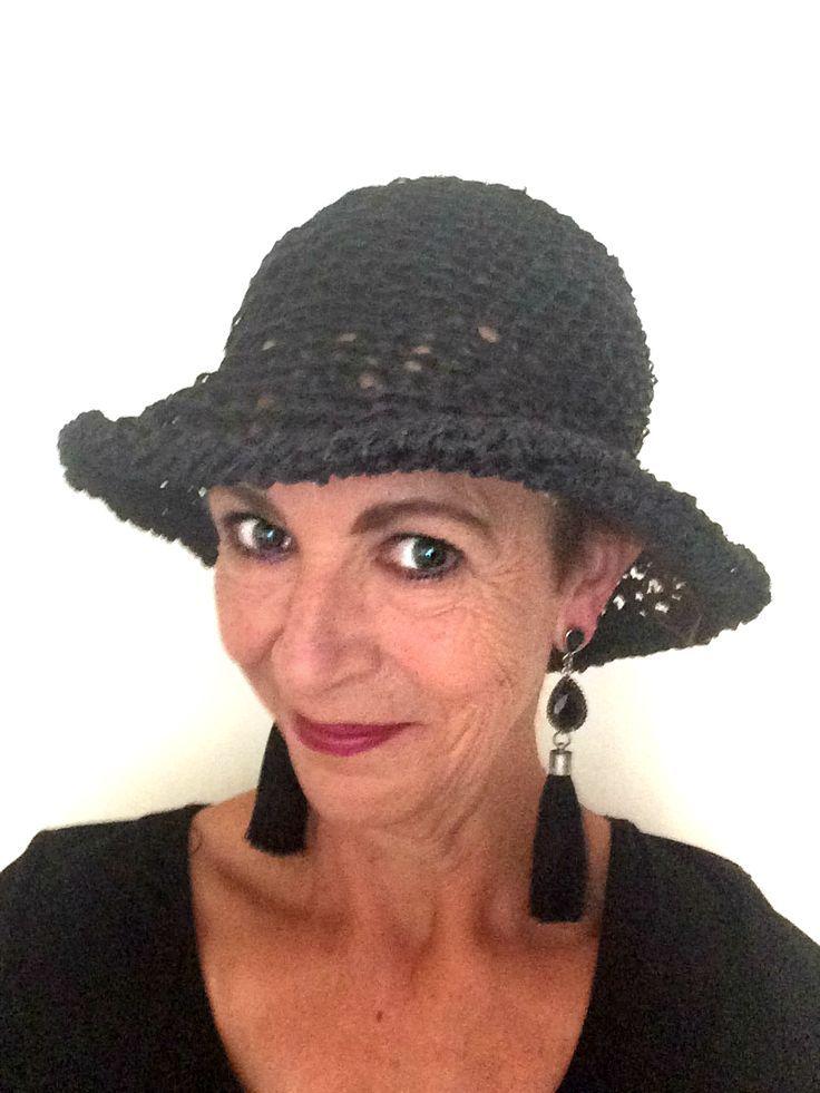Mara wears the Moncherie Crochet Wide Brim Hat in Black Hemp Twine   Womens Hat   Summer Hat   wide brim hat   wide brim hat outfit   wide brim hat summer   wide brim hat outfit winter   wide brim hat outfit summer   Crochet Wide Brim Hats   StrawberryCouture Hats   Crochet Wide Brim Hat   Wide Brim Hats   Crochet Hats for Women   #widebrimhat #brimhat #blackhat #summerhat #crochethatsforwomen #womenshats #strawberrycouture