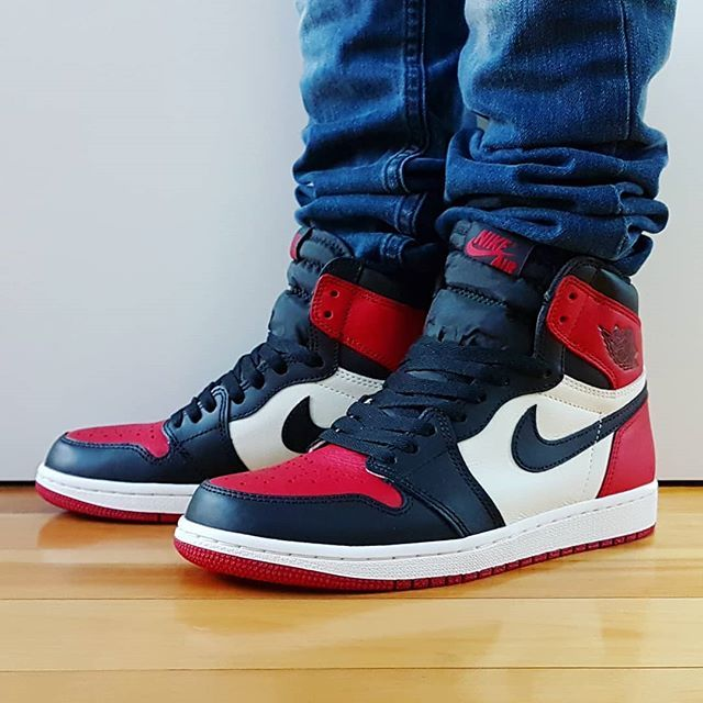 752d84b26cf0 Go check out my Air Jordan 1 Retro Bred Toe on feet channel Quick link in  bio.  jordansdaily  jumpman  sneakershouts  instagood  shoegasm   todayskicks ...