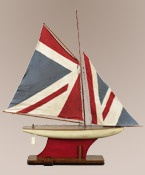 Model Sail Boat with Union Jack Sails