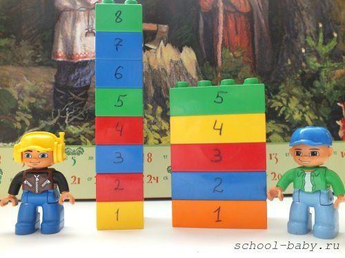 Математические игры с лего - Раннее развитие - Babyblog.ru