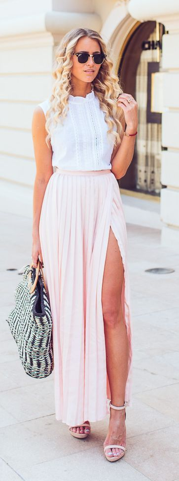 Minus the slit. Pastel Bright Feminine Style - Janni Deler