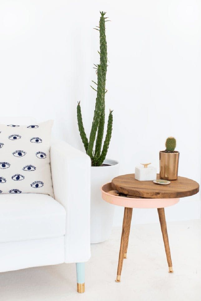 7 Easy DIY Side Tables for Your Next Weekend Project via Brit + Co