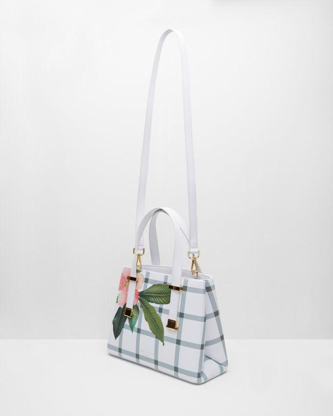 Secret Trellis leather tote bag - Cream | Totes | Ted Baker