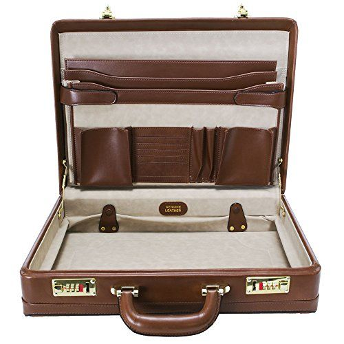 McKlein USA Coughlin Leather Expandable Attache Case