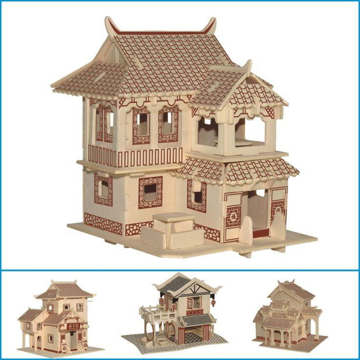 Современный стиль дома DIY детские игрушки 3D Деревянные Головоломки бытовой статуэтки для украшения купить на AliExpress