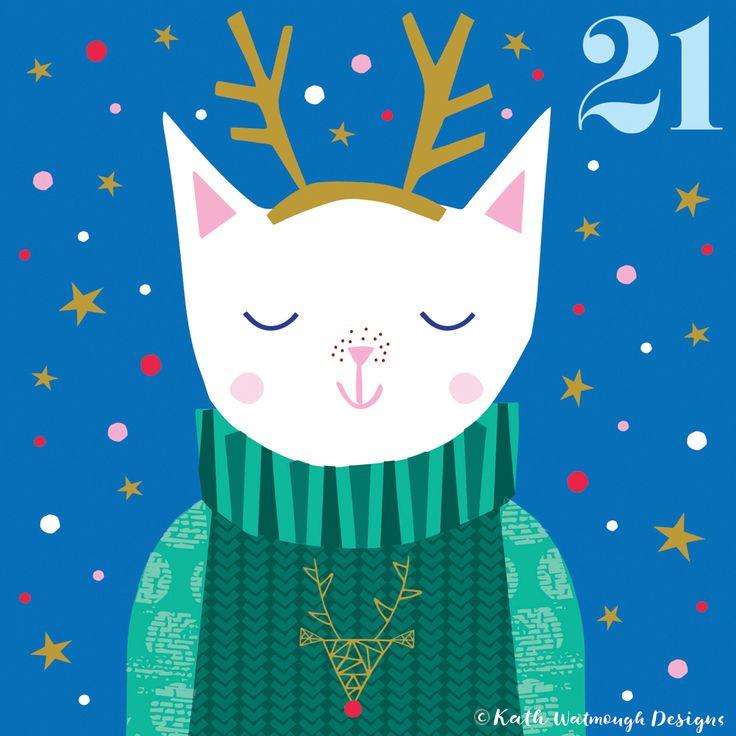 Day 21 - Festive cat!    #makeitindesign #cat #festivecat #advent #adventcalendar #adventcalendarart #adventcalendar2017 #adventchallenge2017 #illustration #christmascountdown #christmascalendar #christmas #freelance #freelancedesigner #christmas2017 #kathwatmoughdesigns www.instagram.com/kathwatmough