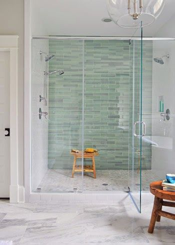 Get the Look: 35 Beautiful Bathrooms with Frameless Glass   A House Full of Sunshine