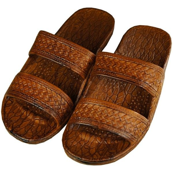 Hawaiian Jesus Sandal ($8.99) ❤ liked on Polyvore featuring shoes, sandals, hawaiian shoes, hawaiian print shoes and hawaiian sandals