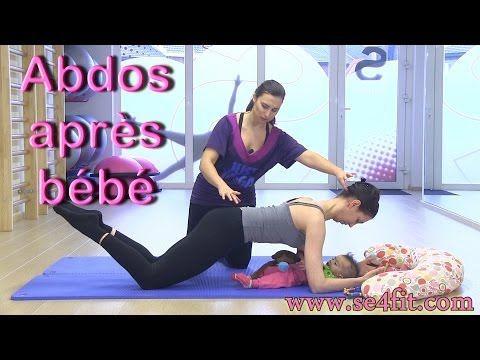 Exercice 4 post accouchement après grossesse le gainage pour tonifier les abdominaux - YouTube
