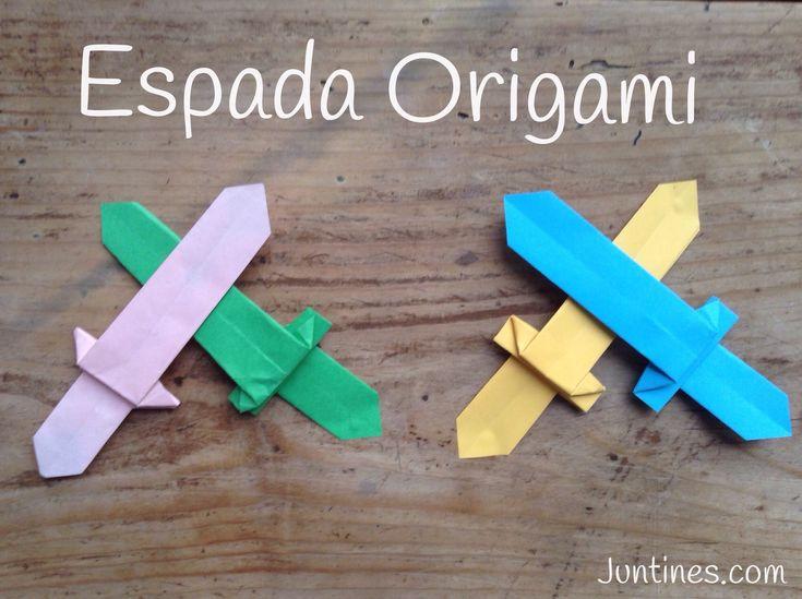 espada de origami origami sword de papel para nios origami sencillo