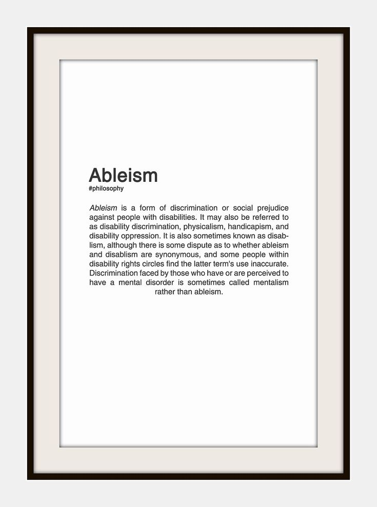 ABIEISM. #typography #design | Philosophy quotes ...