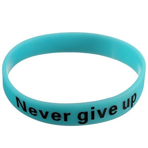 GLOW IN DARK Silicone Rubber Sport Elasticity Wristband Cuff Bracelet Bangle