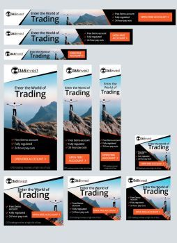 Banner Set for Forex Trading Company by artblade477