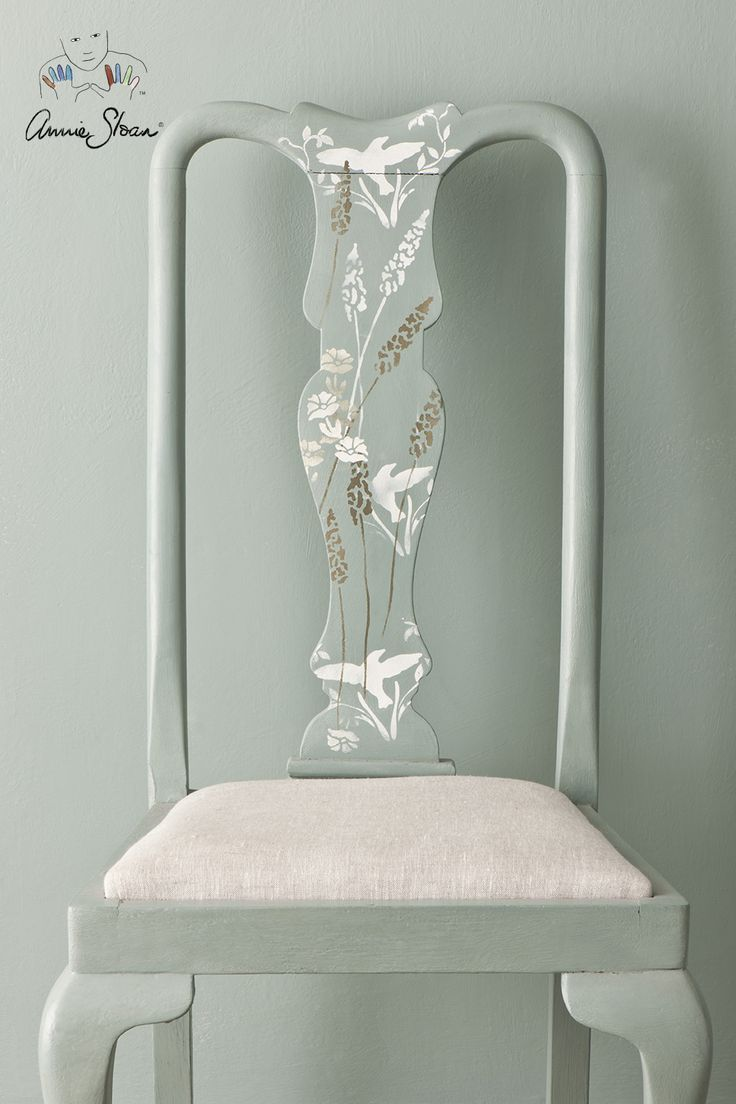 75 best annie sloan stencils images on pinterest chalk stenciled and painted chair in duck egg blue chalk paint and annie sloan stencils amipublicfo Images