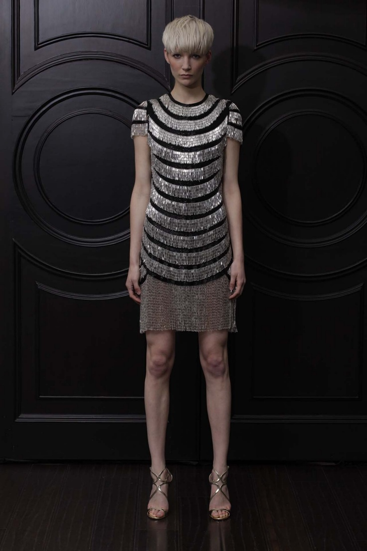 #Naeem Khan Resort 2013  #1920's Flapper Design #Metallics
