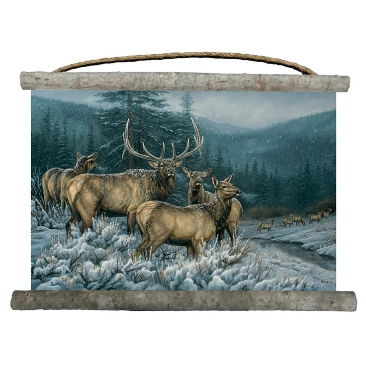 Elk Wall Hanging | Broken Silence | Canvas | Decor | Wall Art
