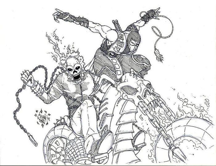 Deadpool Ghost Rider Coloring Pages Coloring Pages Ghost Rider Toy Story Coloring Pages