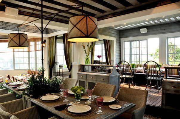 kind of obsessed with the layout for a dining room, patio, or restaurant seating