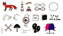 Водонепроницаемый наклейки татуировки канцелярские наклейка используется на бумаге книга кожи металл керамика стекло офисные и школьные принадлежности SYA030(China (Mainland))
