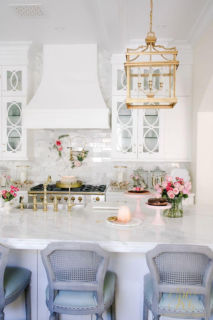 Romantic Valentine's Day Home Tour + Styling Tips - Randi Garrett Design  white kitchen