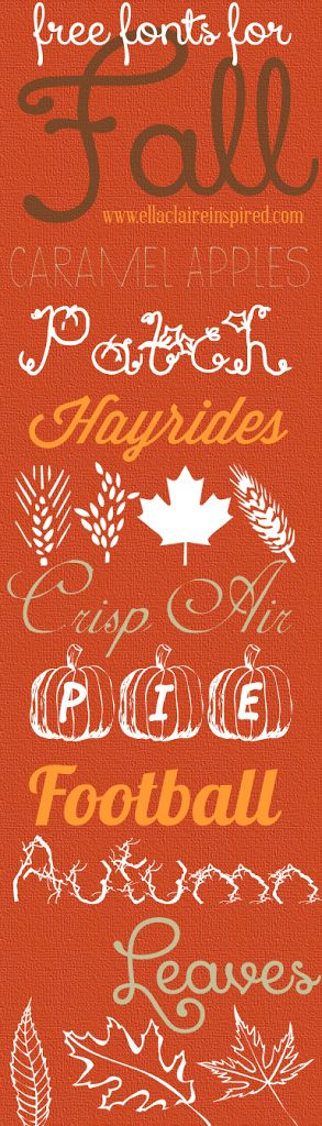 Free Fonts for Fall - Perfect for Autumn Projects by Ella Claire.