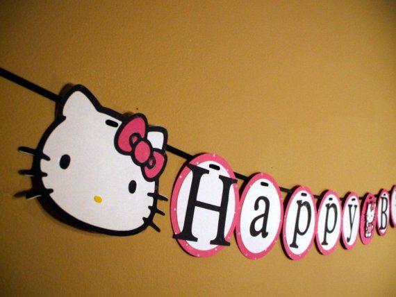 Hello Kitty birthday banner