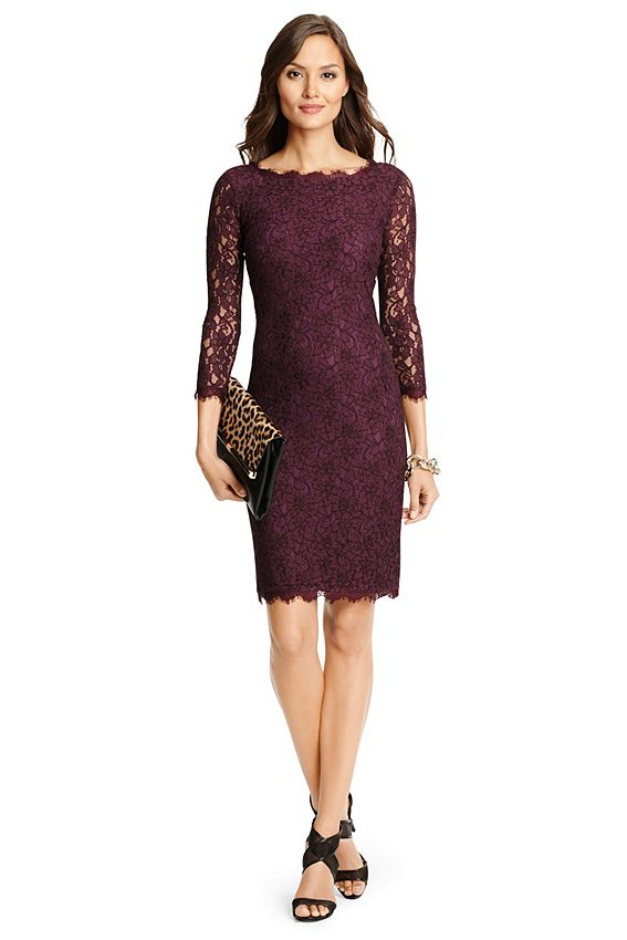 The ultimate party dress, the stretch lace Zarita is one of our most popular styles now in a longer length. 3/4 sheer lace sleeves. Exposed back zip. Scalloped lace detail at hem. Silk jersey lining. Falls to above the knee. Fit is true to size.