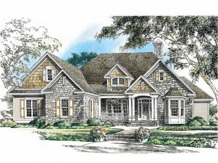 Eplans house plan stone shingles and siding form a for Eplan house plans