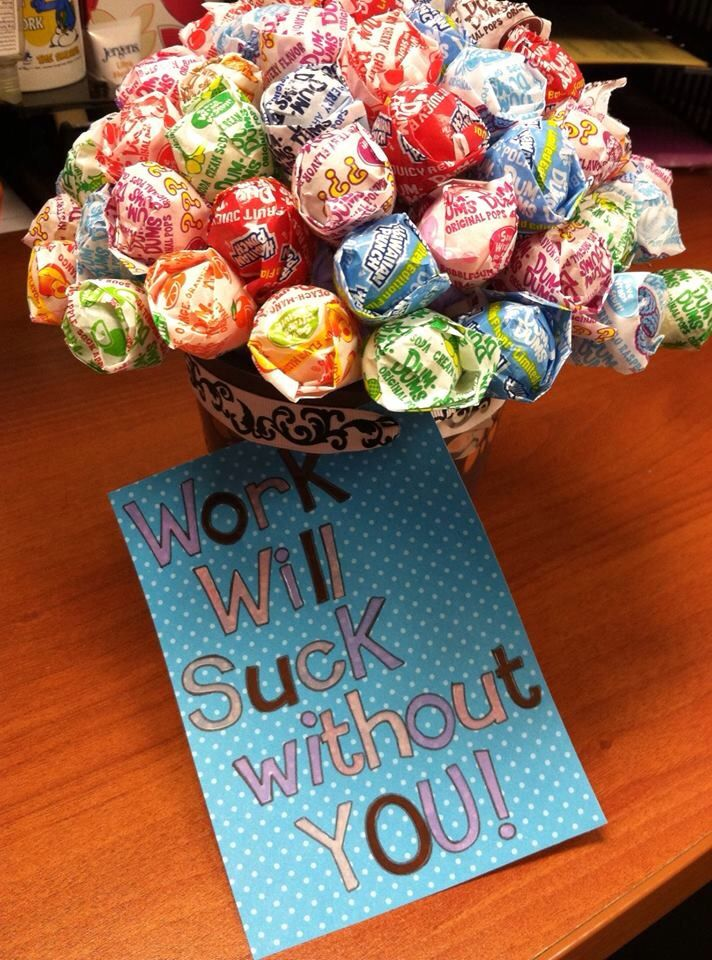 Lollipop Flower gift for coworker leaving