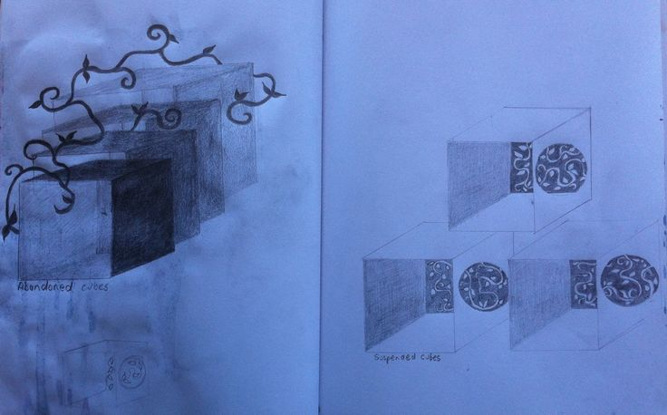 Day 5....abandoned cubes and uplifted cubes