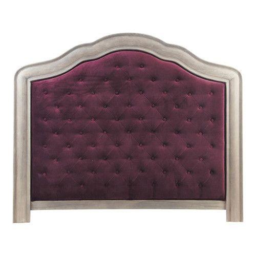 Testata letto da 140 cm in velluto viola