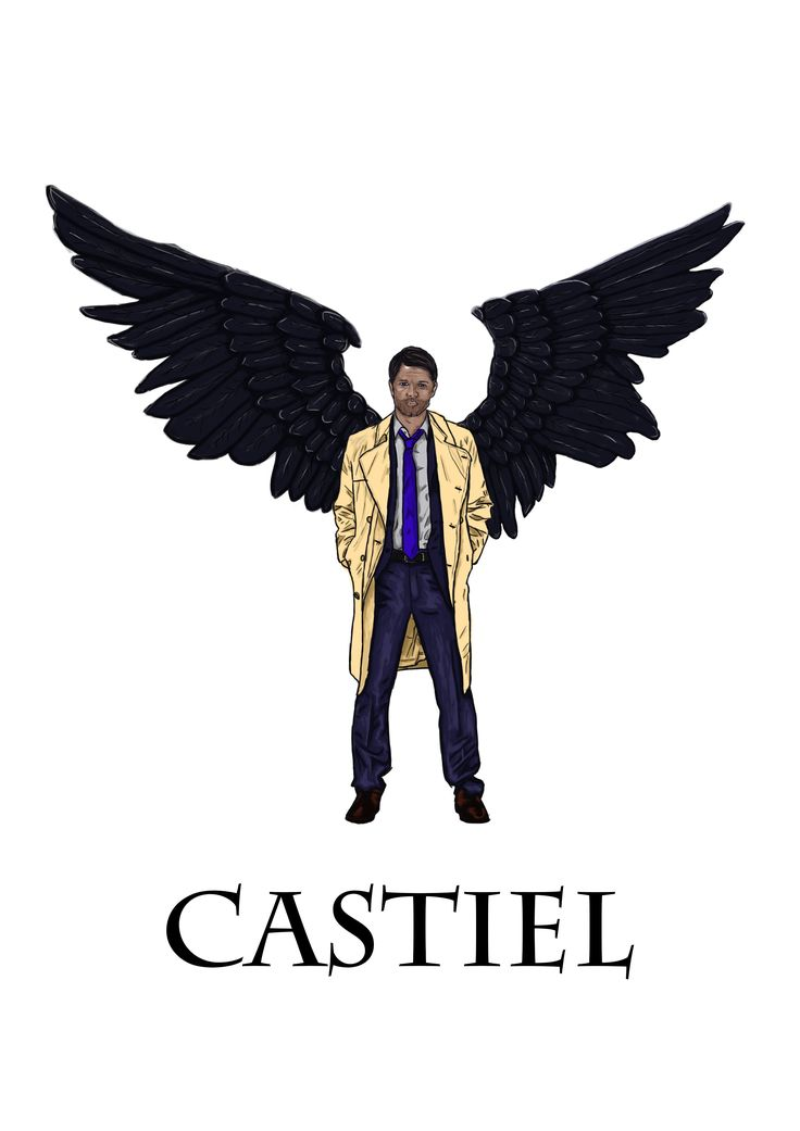 Castiel - By Isabella Ravenwood. Supernatural, wings.